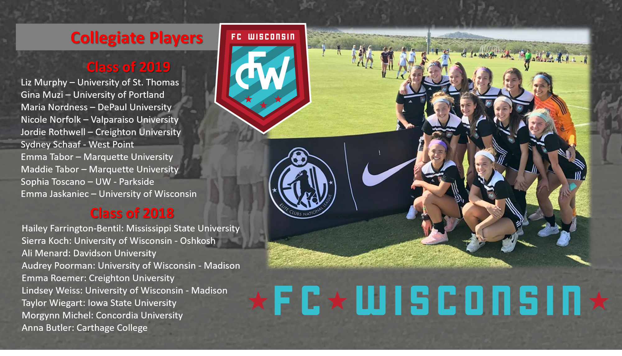Why Play at FC Wisconsin?